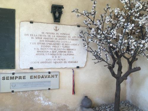 ジュニペロ・セラのアーモンドの木